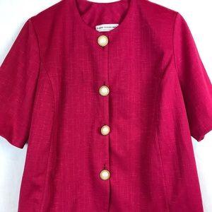 Vintage 80's Hot pink Jacket Suit piece